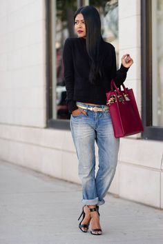 #wine #stained #lips boyfriend jeans, fashion styles, wine stain, stain lip, street styles, fashion looks, tote bags, spring outfits, boyfriends