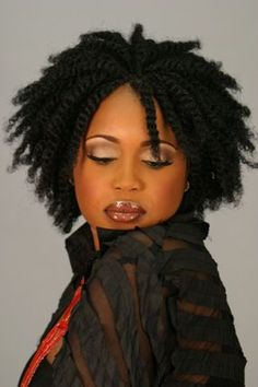 Great two-strand twist look.