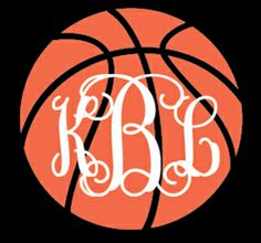 Preppy Basketball Monogram Car Decal