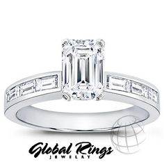 1.10 ct F-G VS Emerald Cut Diamond Engagement Ring  -Well this might be my favorite I've ever seen.
