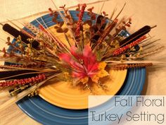 Pretty fall floral table setting for a Thanksgiving table from @Lauren from Tutus & Tea Parties! #turkeytablescapes