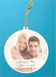 Photo Ornaments Wedding Favors - Ceramic