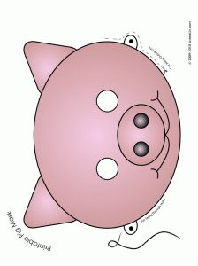 printable pig mask   full color great for readers theater  three