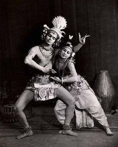 Uday Shankar and Simkie as Shiva and Parvati, 1937