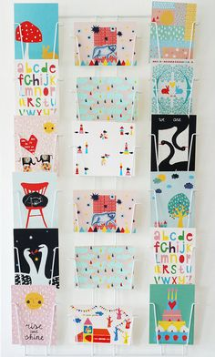 Large set of 12 different postcards by Ninainvorm on Etsy