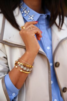 sparkly jewels + spring layers