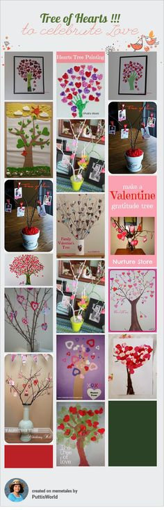 Valentine Trees Classroom Craft for Valentines Day