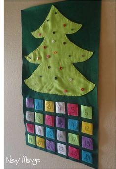 Jesse Tree DIY KIT - Ready to Ship - Biblical Christmas Countdown Advent Calendar with Devotional. $62.00, via Etsy.
