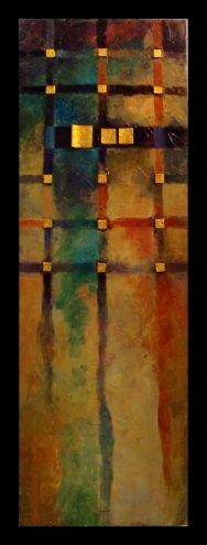 """""""BOOGIE WOOGIE"""" 12001, textured geometric abstract © Carol Nelson Fine Art, painting by artist Carol Nelson"""