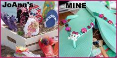 Kids Craft Idea: Embellished Flip Flops