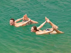 Floating on the dead sea. Isreal. Just don't get it in your eyes!
