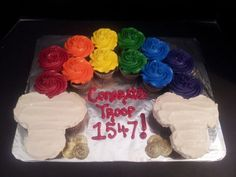 Girl Scout Bridging Up Cake  Change To Make A Bridg cakepins.com