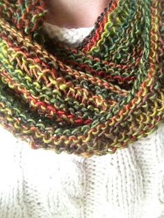 Free Knitting Pattern - Cowls and Neck Warmers: Easy Drop Stitch Infinity Scarf