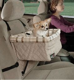 Deluxe Dog Pet Booster Car Seat, need one to fit both of my little stinkers!