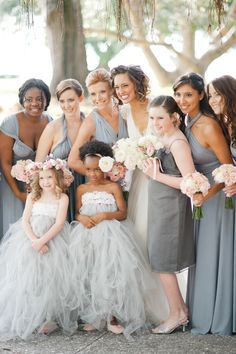 Bridesmaids + Flower Girls on #SMP ~ See the wedding here http://www.stylemepretty.com/2013/12/13/sarasota-fl-wedding-at-ca-dzan-mansion/  Katie Lopez Photography