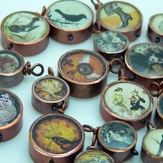 Copper pipe pendants - could probably also make these into magnets ...LOVE this idea!