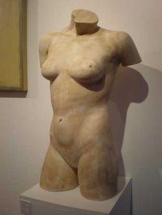 Plaster Indoor figurative sculpture by artist David Corbett titled: 'Female Torso' #sculpture #art