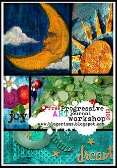 FREE Progressive Art Journal Workshop- All year LONG! by Liz Hicks
