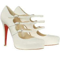 Christian Louboutin Mary-Jane 120 platforms white  cheap cl shoes