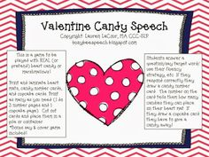 Busy Bee Speech: Valentine Candy Speech {Freebie!} Pinned by SOS Inc. Resources. Follow all our boards at pinterest.com/sostherapy/ for therapy resources.