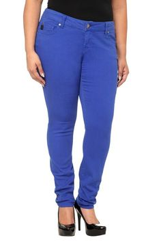 These Bright Blue Sophia Skinny Jeans go perfect with just about everything.