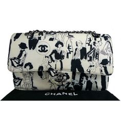 Chanel Karl Lagerfeld Black & White Bicolor Medium 2.55 Double Flap Bag, Rare #porteropintowin