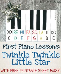 Let's Play Music : Free Sheet Music for Beginners & Lesson Plan for Teaching Kids Twinkle Twinkle Little Star