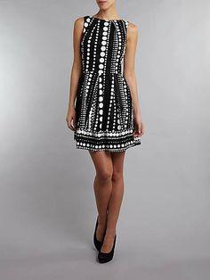Polka dot pleat skirt dress, Closet