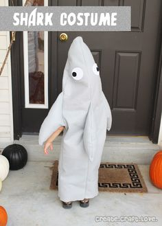 Easy to sew Shark Costume for Halloween!  via createcraftlove.com