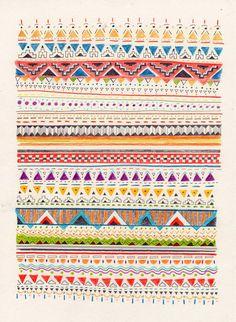 Pattern Art Print by Sandra Dieckmann   Society6