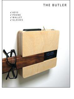 Loving this sleek modern take on a storage organizer for all the essentials! T H E B U T L E R by micklish on Etsy.