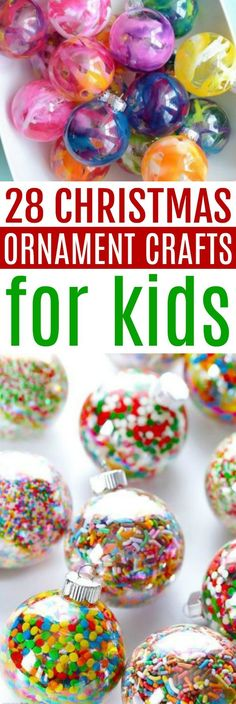 If you're looking to add a few special DIY ornaments to your collection this year, look no further! In this post we're sharing 28 Christmas ornament crafts for kids! #christmas #diycristmas #holidays #diyholidayideas #diychristmasideas #diychristmasdecor #diychristmasgiftideas #christmascrafts #christmaskidcrafts #diygiftideas #christmasdiy #christmascrafts #diychristmasideas