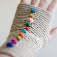 Wrist Worms, Wool, Dotty Candy Colours.