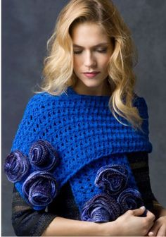 wrap, heart, rose parad, crochet free patterns, roses, blue rose, crochet patterns, scarv, yarn