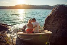 engag session, sunset, boats, engagements, engag shoot, courtney photographi, wedding blog, lake, engagement shoots