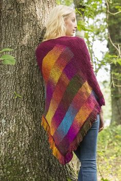Free Universal Yarn Pattern : Bargello Comfort Shawl