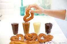 Homemade Churros and Dipping Sauces.