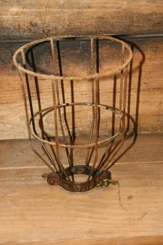Industrial Light Vintage Style Metal Wire Cage by IndustrialRewind