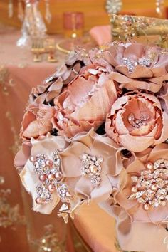Brooch Bouquet In Blush