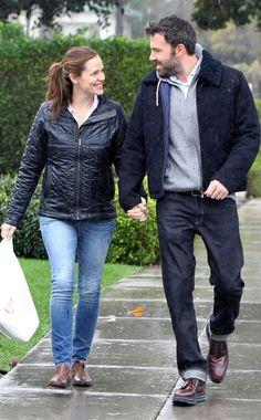 Jennifer Garner and Ben Affleck; they seem so in love