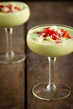 Creamy Chilled Cucumber and Avocado Soup