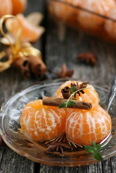 Clementines in spiced cider by sillev
