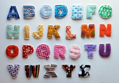 how to make plush alphabet magnets.