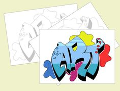 How to Draw Graffiti Names: 10 steps - wikiHow