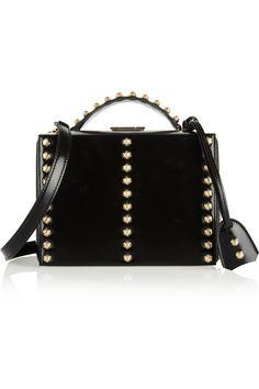 Mark Cross studded patent leather shoulder bag