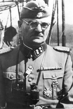 SS Sturmbanfuhrer Christian Wirth, who developed the gas killing methodes. Commander of the Treblinka, Belzec and Sobibor extermination camps. Killed in May 1944 by Yugoslav Partisans while travelling in an open-topped car on an official trip to Fiume.