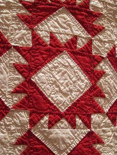 three centuries of red and white quilts.