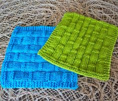 knitted mug rug idea- love the texture on these
