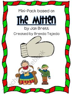The Mitten Comprehension Mini-Pack product from Tejedas-Tots-K-2 on TeachersNotebook.com