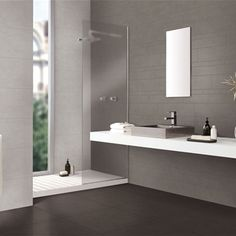Badkamers on pinterest wands showers and tile - Mooie moderne badkamer ...